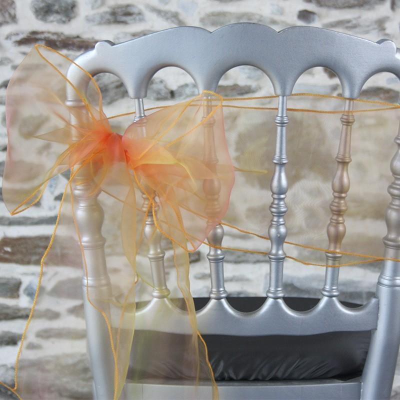 Ceinturage organza orange, reflets rosés, Anne-C