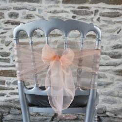 Nœud de chaise organza saumon, Anne-C