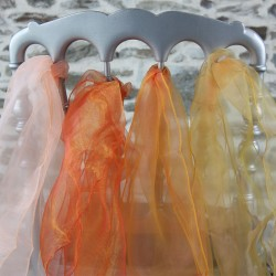 Ceinturages organza Saumon, orange et jaune, Anne-C