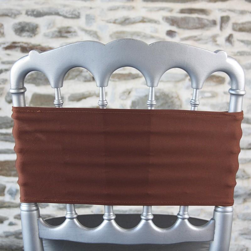 Bandeau lycra coloris chocolat, Anne-C