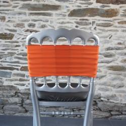 Bandeau lycra, nœud de chaise corail, Anne-C