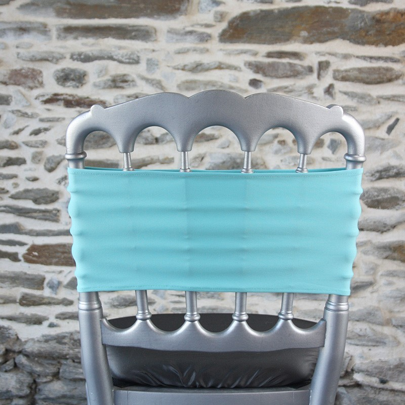 Bandeau lycra turquoise, Anne-C