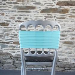 Bandeau, nœud de chaise lycra turquoise, Anne-C