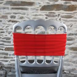 Bandeau lycra, coloris rouge, Anne-C