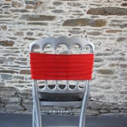 Bandeau, nœud de chaise lycra rouge, Anne-C