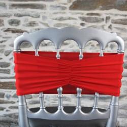 Bandeau en lycra plissé rouge, Anne-C