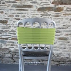 Bandeau, nœud de chaise en lycra vert anis, Anne-C