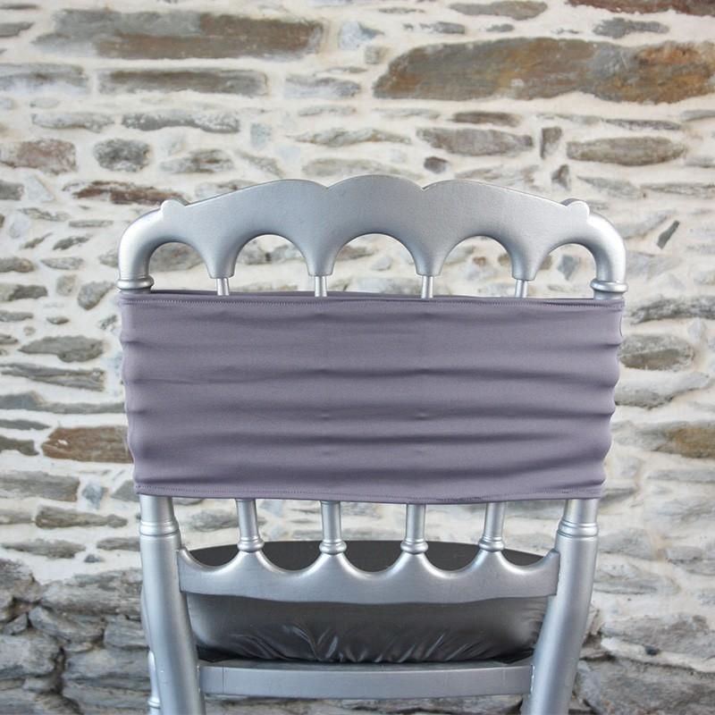 Bandeau en lycra coloris gris fer, Anne-C