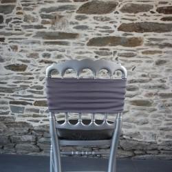 Bandeau lycra, nœud de chaise coloris gris fer, Anne-c