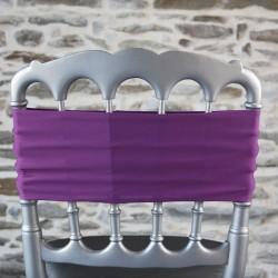 Bandeau de chaise lycra coloris violine, Anne-C