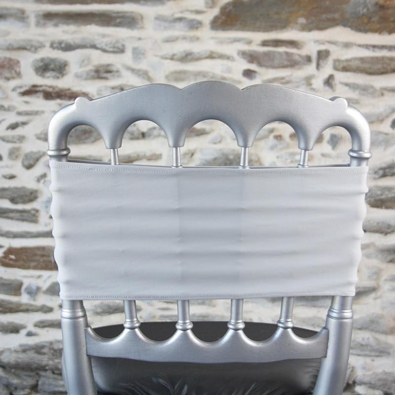 Bandeau de chaise en lycra gris argent Anne-C