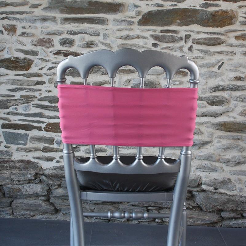 Bandeau lycra coloris rose bonbon, Anne-C