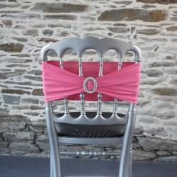 Bandeau, nœud de chaise en lycra, rose bonbon, Anne-C