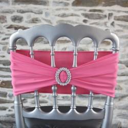 Bandeau lycra avec strass, coloris rose bonbon, Anne-C