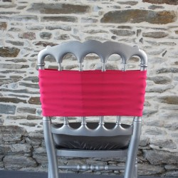 Bandeau, nœud de chaise lycra fuchsia, Anne-C