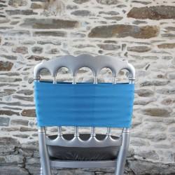 Bandeau, Nœud de chaise en lycra bleu saphir, Anne-C
