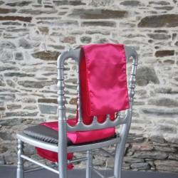 Ceinturage, nœud de chaise satin fuchsia - Anne-C