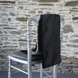 Ceinturage, nœud de chaise en satin noir - Anne-C