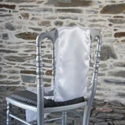 Ceinturage, nœud de chaise en satin blanc - Anne-C