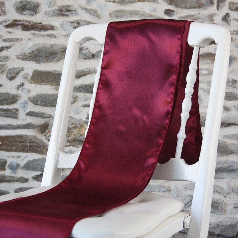 Ceinturage satin  bordeaux - Anne-C