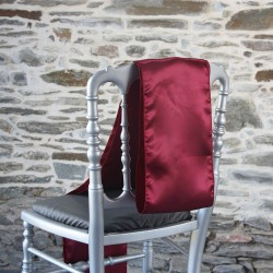 Ceinturage, nœud de chaise en satin bordeaux, Anne-c