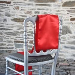 Ceinturage, nœud de chaise en satin rouge, Anne-C