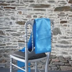 Nœud de chaise, ceinturage satin bleu, Anne-C