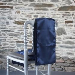Nœud de chaise en satin bleu nuit, Anne-C