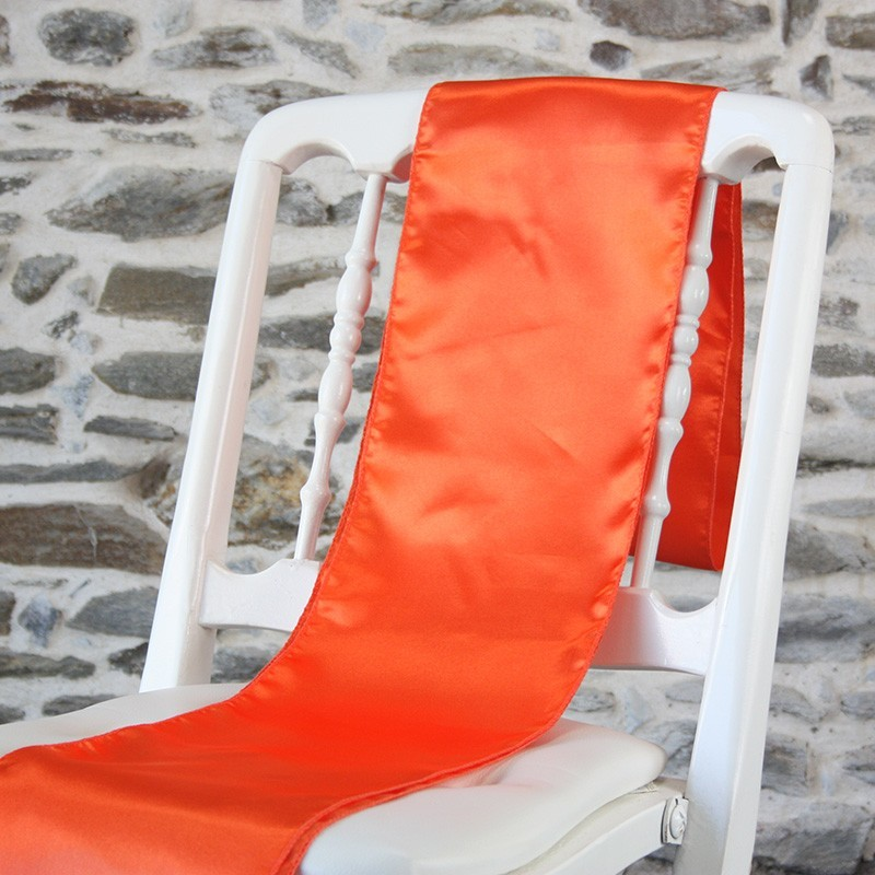 Ceinturage satin orange, Anne-C