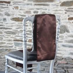 Nœud de chaise en satin chocolat, Anne-C