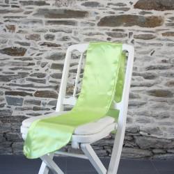 Ceinturage satin vert anis, Anne-C