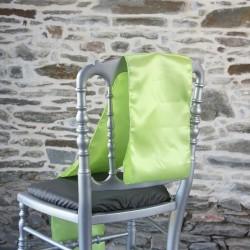 Nœud de chaise, ceinturage vert anis en satin Anne-C