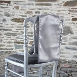 Nœud de chaise satin gris argent, Anne-C