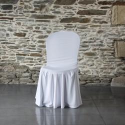 Housse lycra juponnage sur chaise Bistrot Anne-C