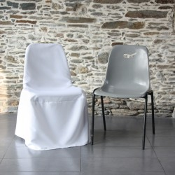 Housse de chaise polyester, chaise coque Anne-C