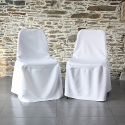 Housses chaise coque : polyester / heavy Scuba,Anne-C