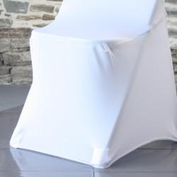 Housse lycra sans arc - les pieds de chaise sont invisibles