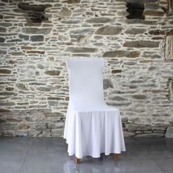 Housse lycra juponnée chaise conférence Anne-C