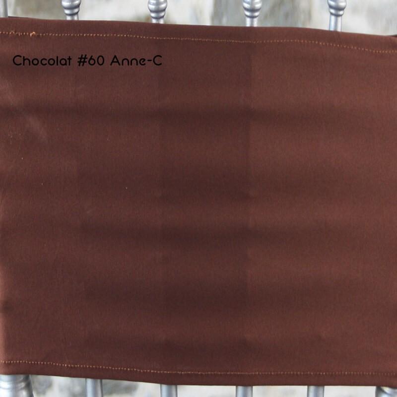 Housse mange debout lycra marron chocolat, Anne-C