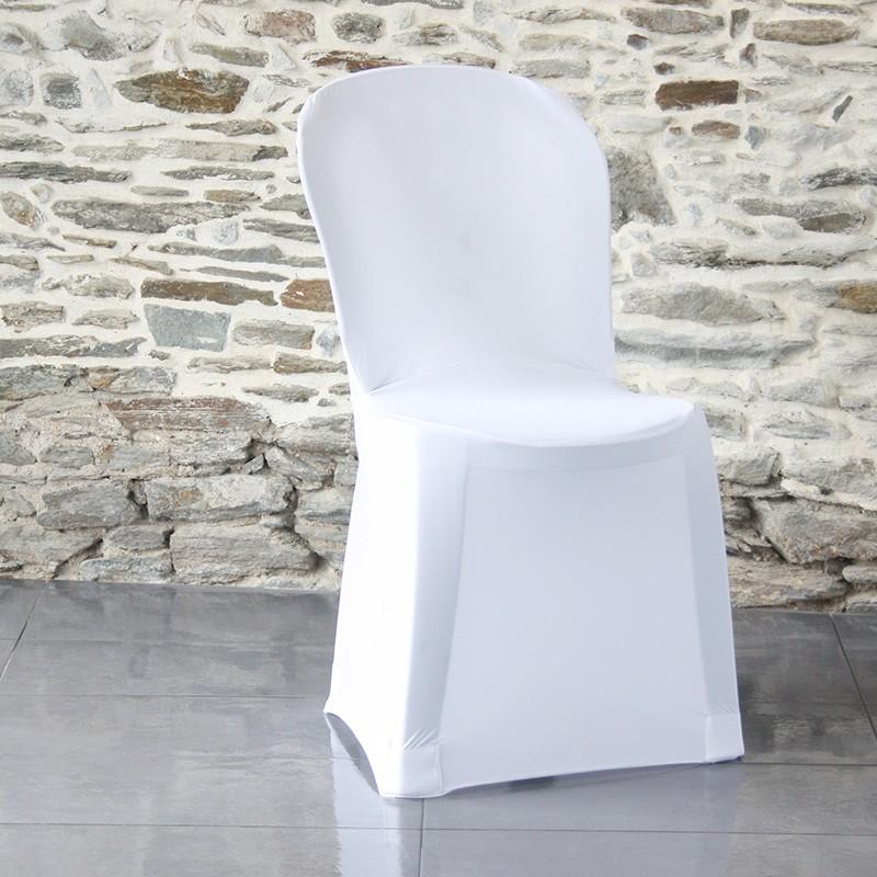 Housse de chaise miami blanche en lycra