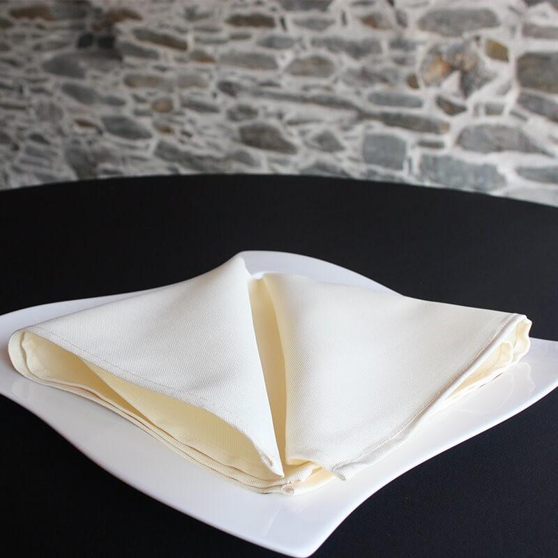 Serviette de table écrue, 100% polyester Anne-C