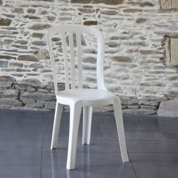 Chaise empilable Miami blanche