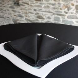 Serviette de table 100% polyester noir, Anne-C