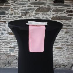 serviette 100% polyester coloris rose clair, Anne-C