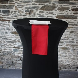 Serviette 100% polyester coloris bordeaux, Anne-C