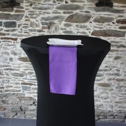 Serviette 100% polyester coloris violine, Anne-C