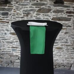 Serviette 100% polyester coloris vert, Anne-C