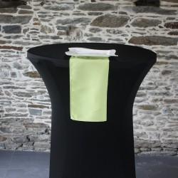 Serviette 100% polyester coloris Vert anis, Anne-C