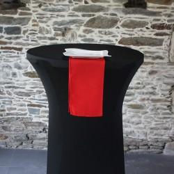 Serviette 100%polyester rouge, Anne-C