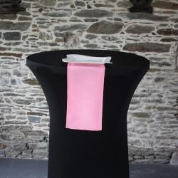 Serviette 100% polyester coloris rose  bonbon, Anne-C